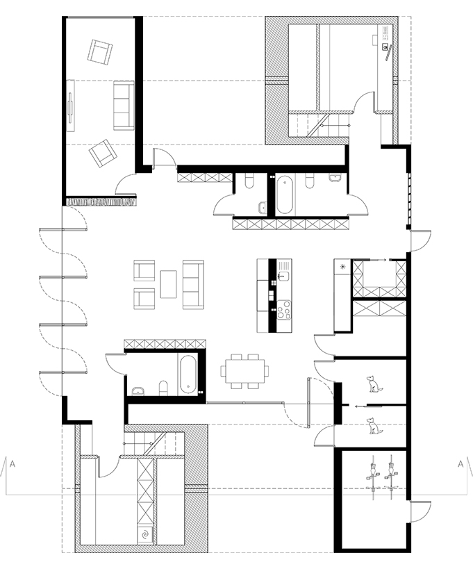 ground floor plan scale 1 50
